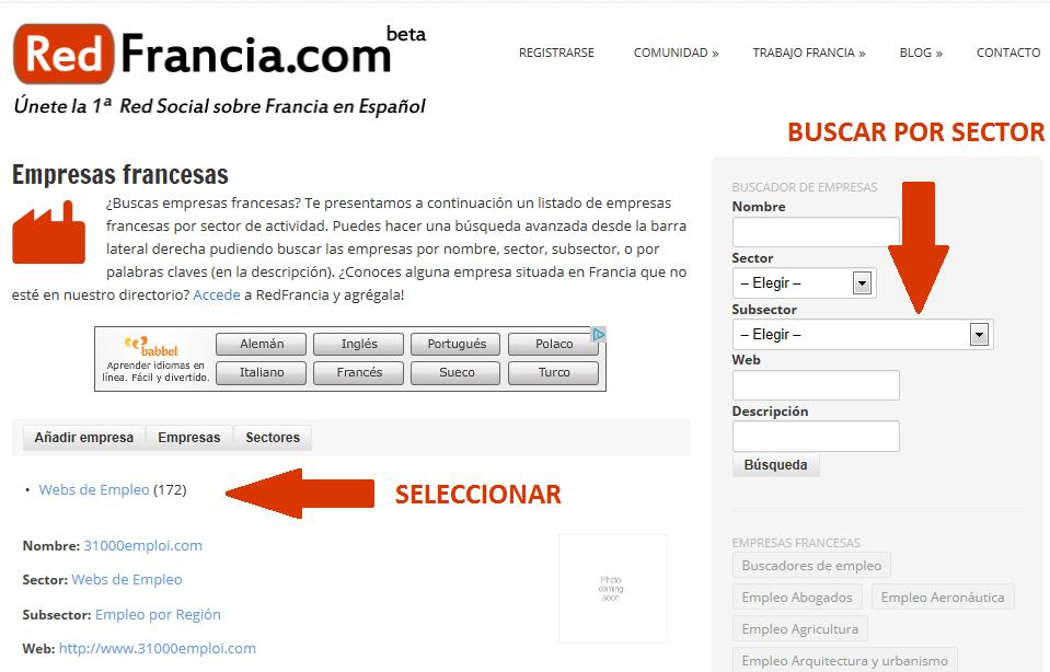 Webs de empleo Francia